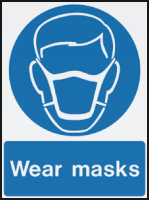 Wear Masks Health and Safety Signs