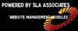 Powered by sla associates website management modules